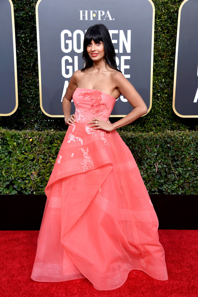 Press: E! hilariously trolled The Good Place star Jameela Jamil on the 2019 Golden Globes red carpet